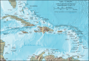 Caribbean map. (source image: website CIA / Wikipedia)